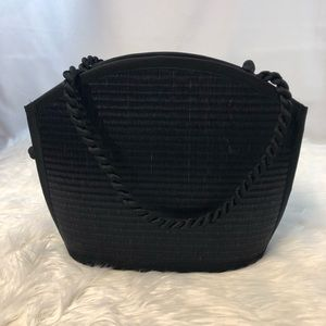 Baskets Of Cambodia Bags - Baskets Of Cambodia Large Black Purse Tote